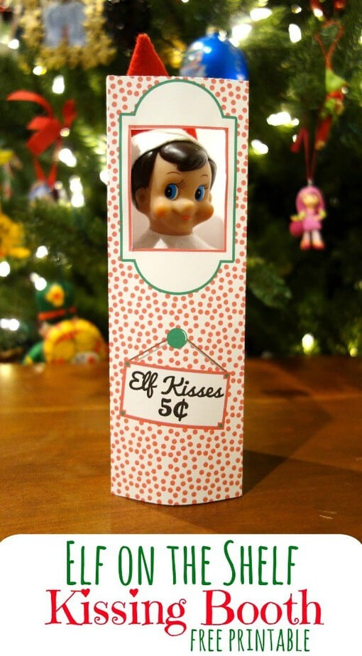 photo about Elf Kisses Printable titled Basic Elf upon the Shelf printables This Mama Enjoys