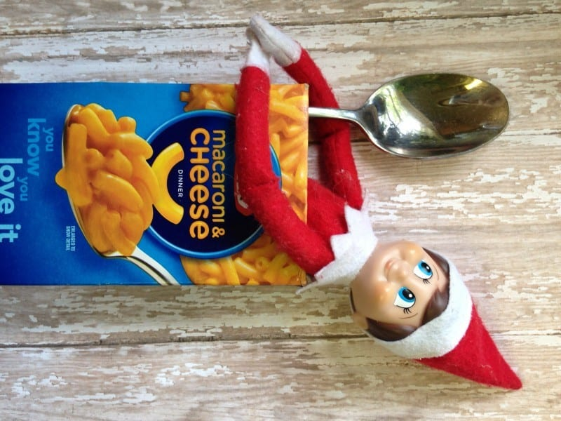 elf on the shelf mac cheese