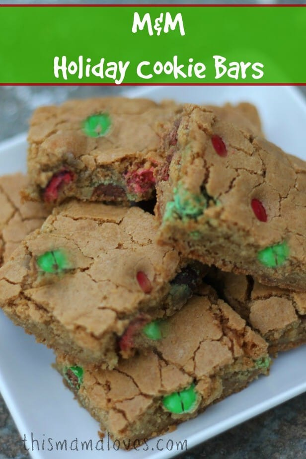 M Amp M Holiday Cookie Bars This Mama Loves