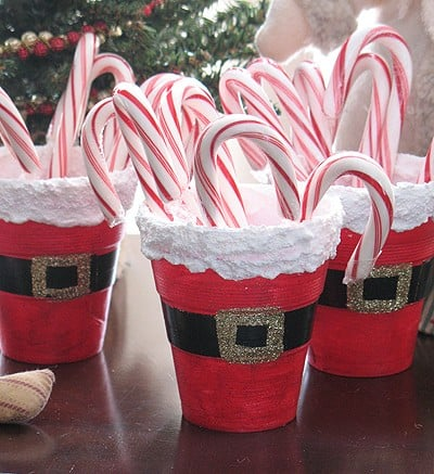 santas belly treat cups