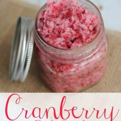 DIY Cranberry Body Scrub: Simple Gift Idea