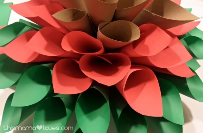 Holiday Paper Wreath Tutorial