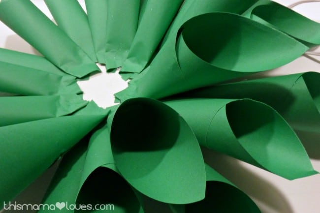Holiday Poinsettia Paper Wreath How To
