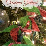 Lighted Garland with Fabric Scraps