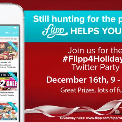 #Flipp4Holidays #TwitterParty! 12/16