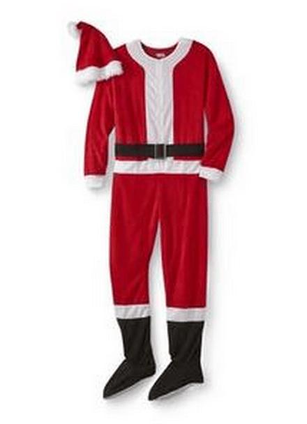 santa footed pajamas