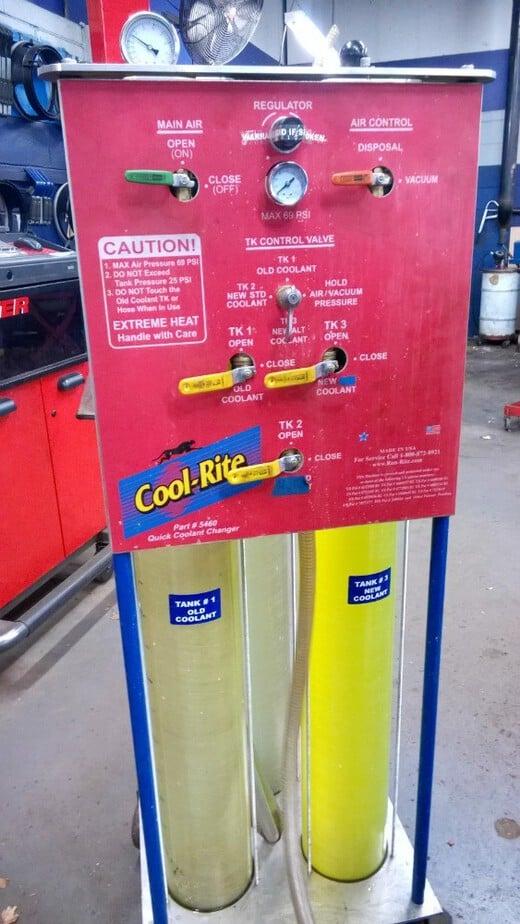 sears coolant machine