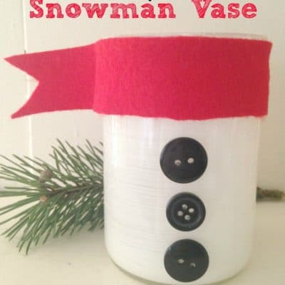 Simple Snowman Vase Craft