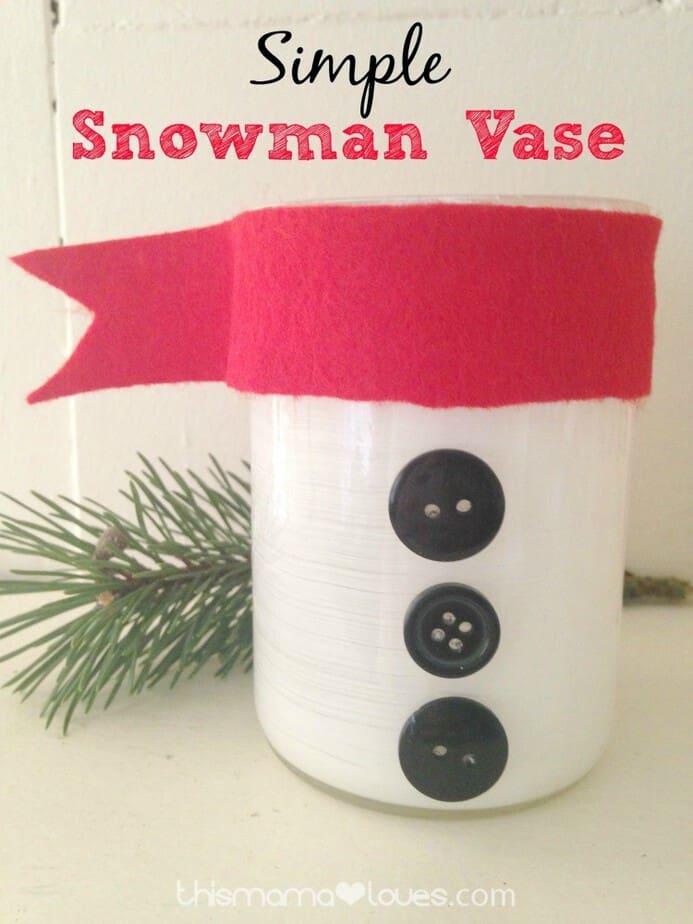 snowman-vase