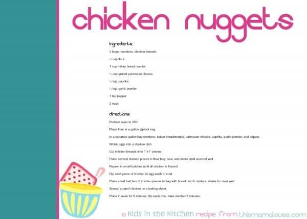 chicken-nugget-recipe-cards
