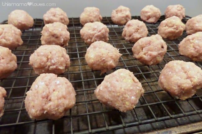 cranberry bbq turkey meatballs process