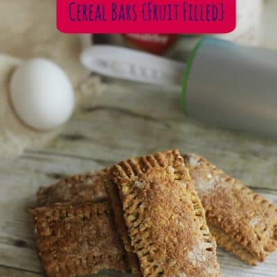 Homemade Cereal Bars- Kids in The Kitchen
