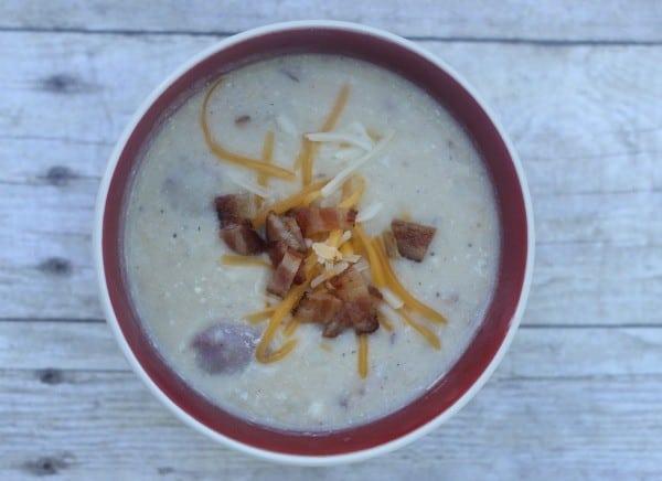 loaded crockpot potato soup