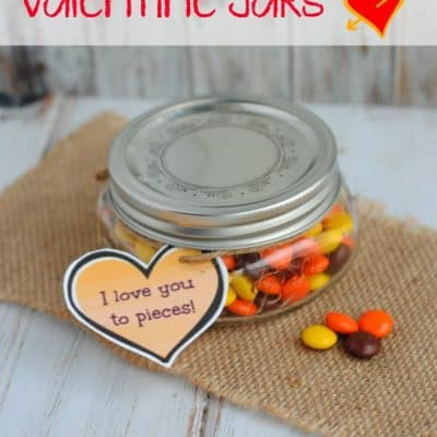 Reese's Pieces Valentine Jar