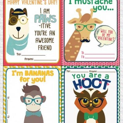 {Free} Printable Hipster Valentines