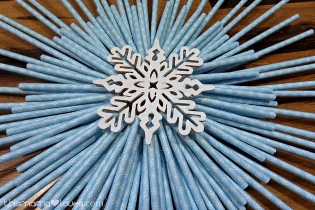 winter straw wreath