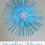 Snowflake Wreath from Paper Straws