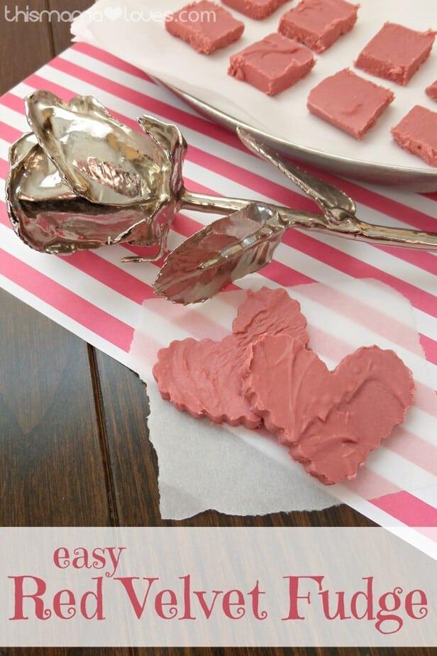 Easy Red Velvet Valentine Fudge