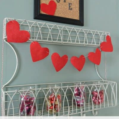 Felt Heart Bunting Valentine Craft