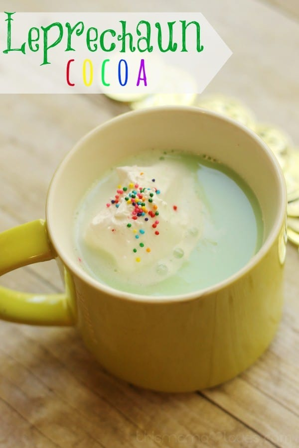 Leprechaun Cocoa Green Hot Chocolate for St. Patrick's Day