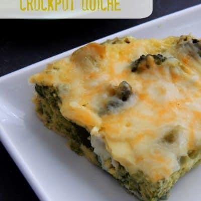 Green Veggie Crockpot Quiche