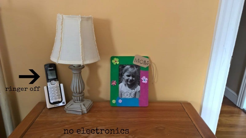 no devices nightstand
