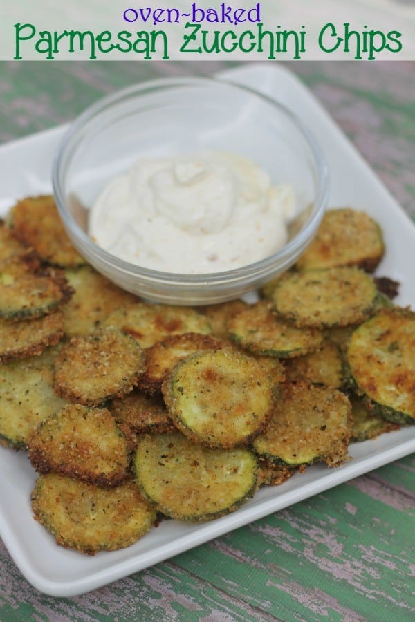 Oven Baked} Parmesan Zucchini Chips