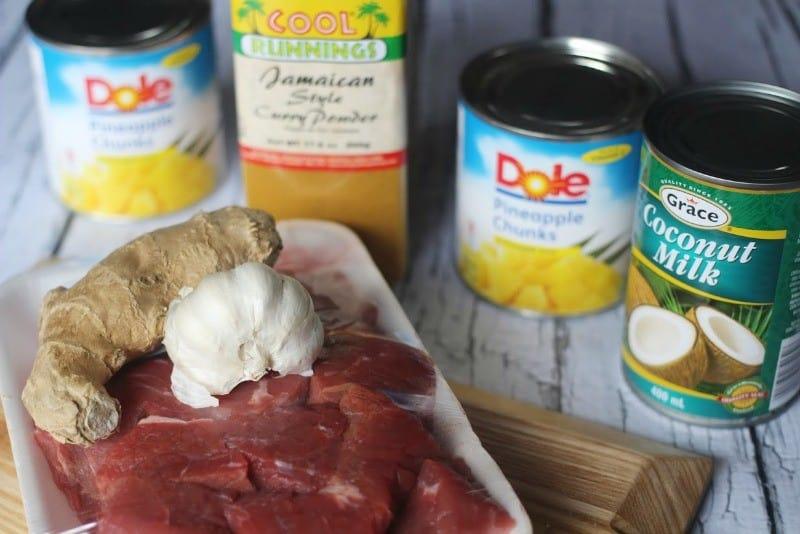 pineapple-beef-ingredients