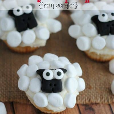 Sheep Cupcakes (From Scratch)