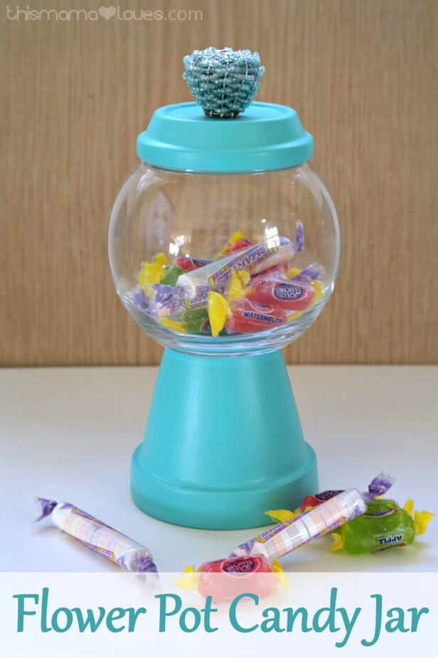Flower Pot Candy Jar This Mama Loves