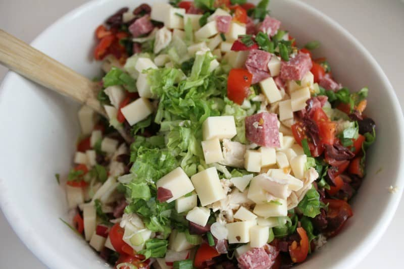 Italian Chopped Salad 3 stir to combine