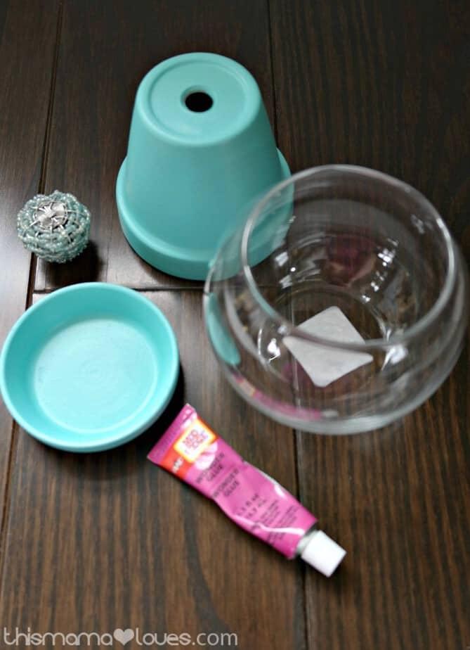 Flower Pot Candy Jar