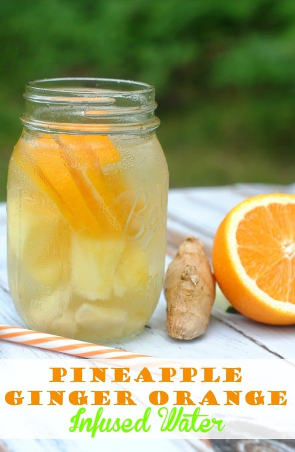 Pineapple Orange Ginger Infused Water Recipe
