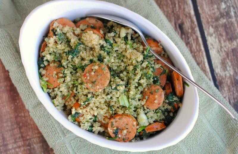 quinoa-chicken-sausage-dinner