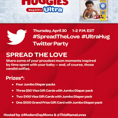 Join us for the #SpreadtheLove #TwitterParty 4/30!  #UltraHug