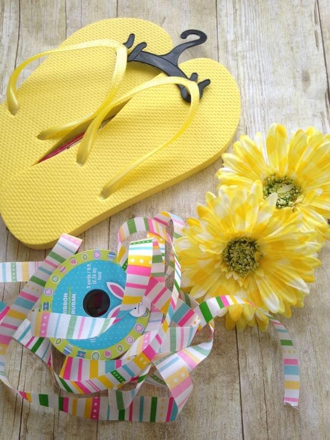 spring-diy-flower-fliip-flop-materials
