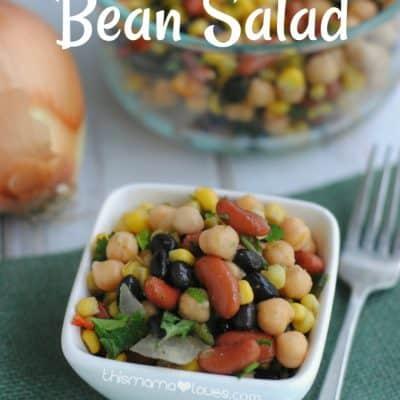 Southwest Bean Salad: Vegetarian Side Dish