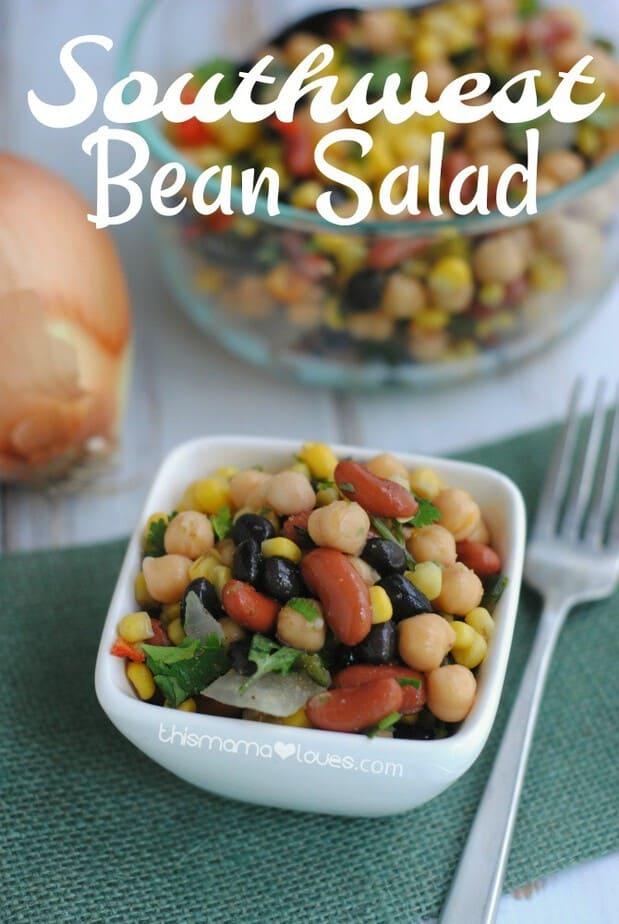 Southwest Bean Salad Recipe Vegetarian Side Dish Idea