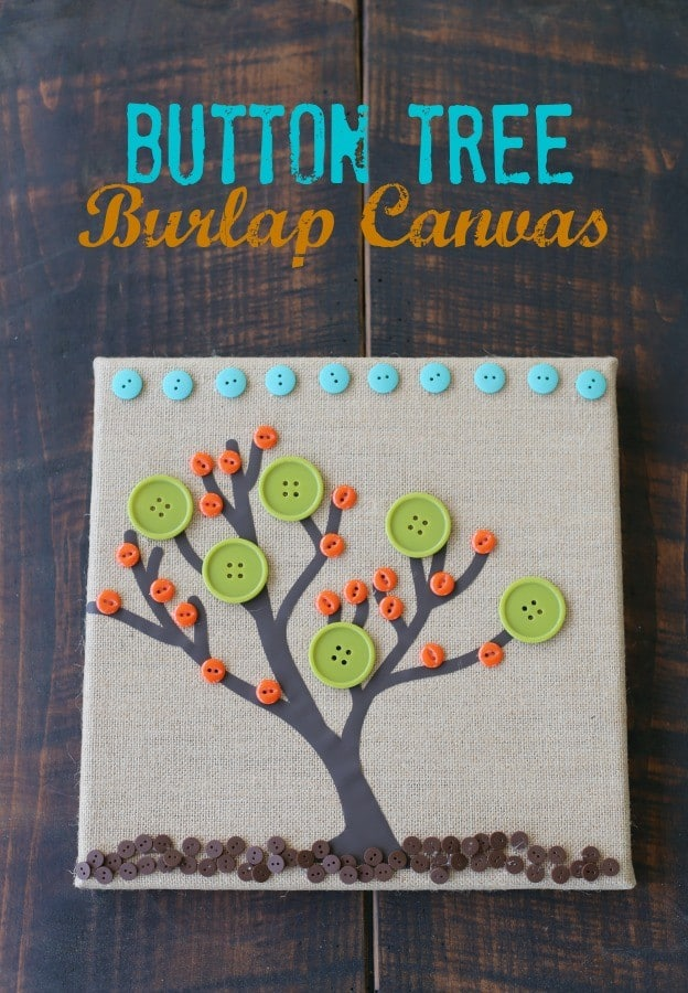 Button Tree Burlap Canvas This Mama Loves