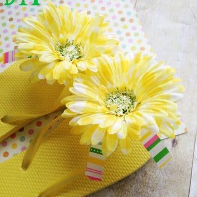 Dollar Store DIY: Flower Flip Flops