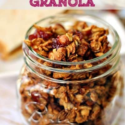 Peanut Butter & Jelly Granola Recipe