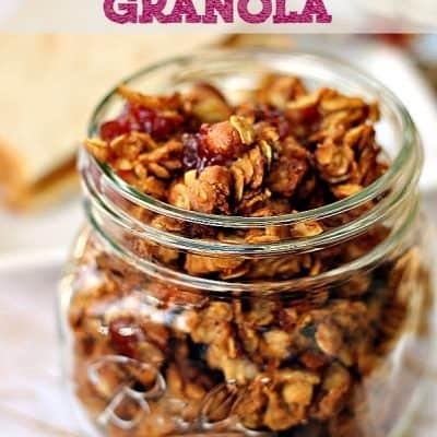 Peanut Butter & Jelly Granola Recipe