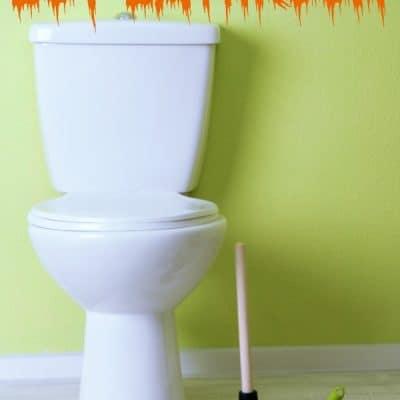 Cleaning a boy bathroom