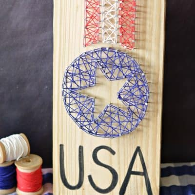 Patriotic String Art Craft