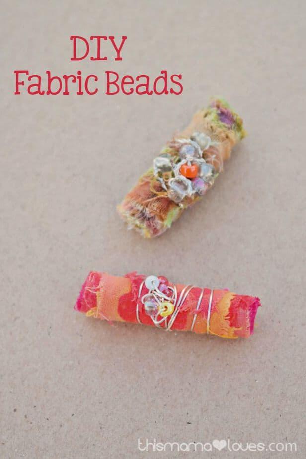 DIY Fabric Beads and Homemade Mod Podge