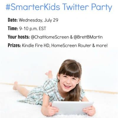 Celebrate #SmarterKids with a #TwitterParty July 29