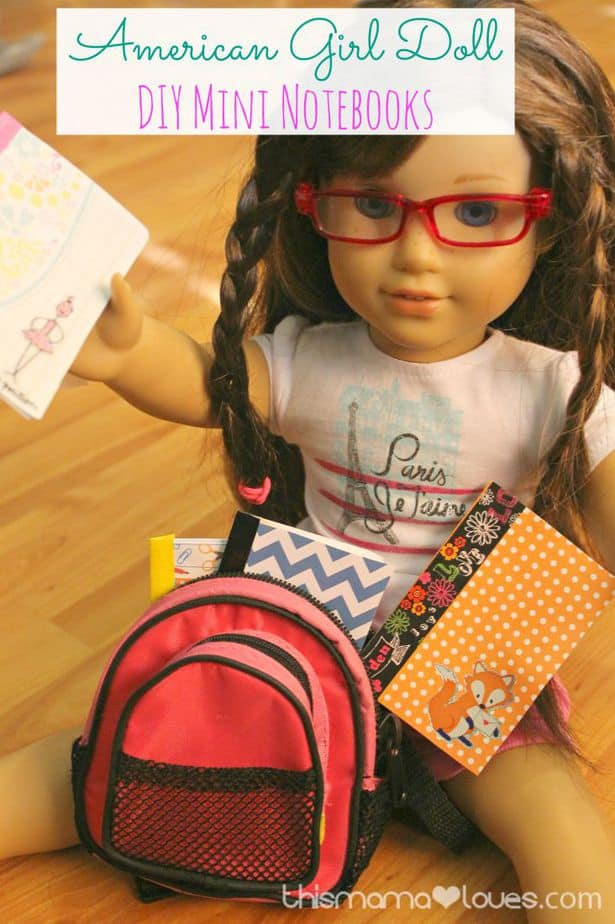 american girl notebooks schcool