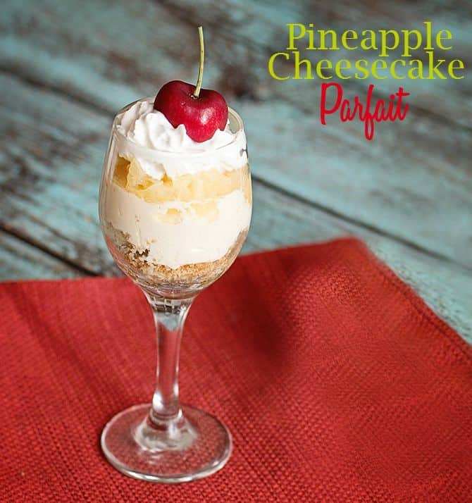 pineapple cheesecake parfait
