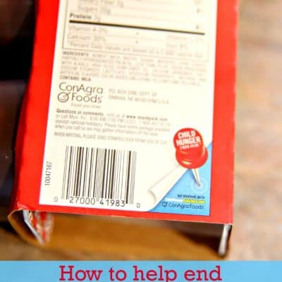 How to help end child hunger