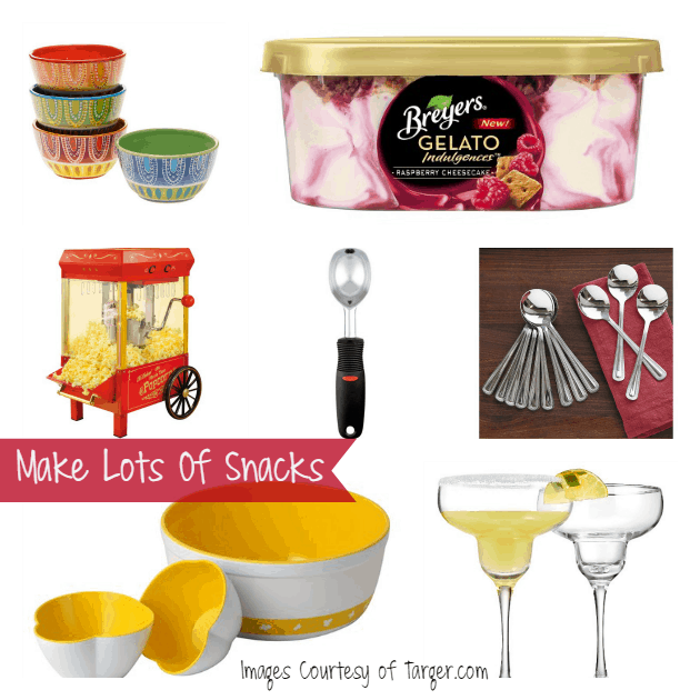 make lots of snacks